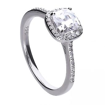 Diamonfire Silver White Zirconia Square Ring R3626