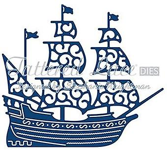 Tattered lace metal CUTTING Die set Vintage galleon ship boat D739