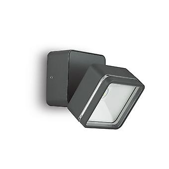 Ideal Lux Omega LED 6 Light Outdoor Wall Light Anthracite IP54 IDL172514