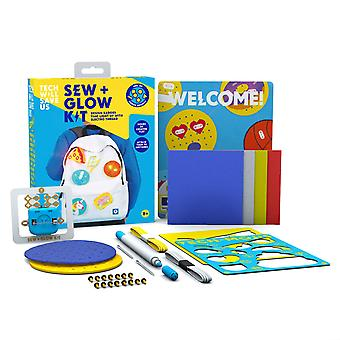 Tech Will Save Us Sew & Glow Kit | Educational STEM DIY Sewing and Craft Toy, Gift for Boys, Girls, Kids Ages 8 and up