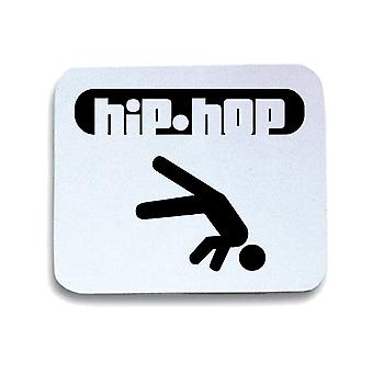 Tappetino mouse pad bianco wtc0896 hip hop