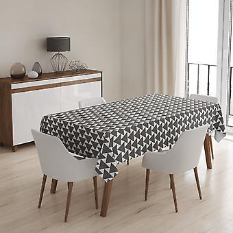 Meesoz Tablecloth - Graphite Triangles