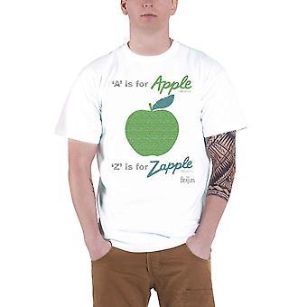 The Beatles camiseta de los Beatles blanco A para Apple Z para Zapple logotipo de la banda Oficial