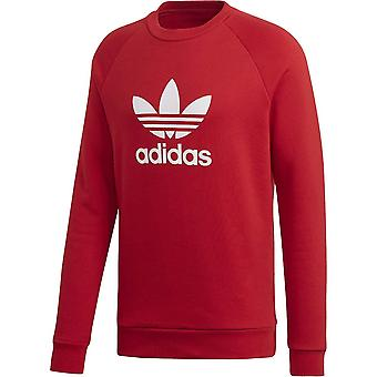 Sweat Trefoil Crew Rouge