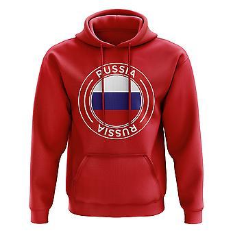 Rusland voetbal badge hoodie (rood)