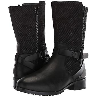 SoftWalk Womens Marlowe Leather Closed Toe Mid-Calf Riding Boots