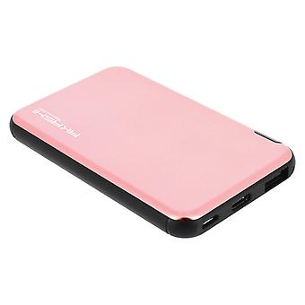 5000mAh Power Bank voor smartphone & Tablet ultra-dunne lader-roze