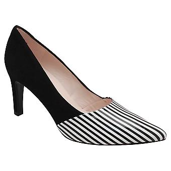 Peter Kaiser Ekatarina sort & hvid High Heel Court sko