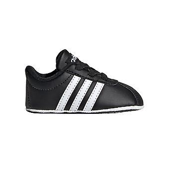 adidas VL Court 2.0 Infant Baby Toddler Kids Crib Shoe Black/White
