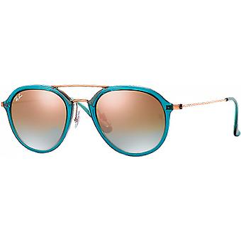 Ray-Ban RB4253 Turquoise Brillant/Bronze Copper Miroité Degraded