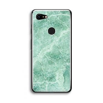 Google Pixel 3 Transparent Case (Soft) - Green marble