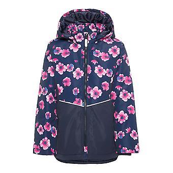 Navn it piger vinterfrakke Maxi pink blomst