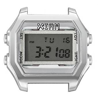 Watch I Am The Watch IAM-022 - Bo tier Aspect M tal Silver Silver Buttons / Horn 18 mm Set