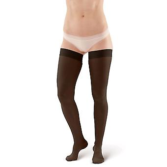 Pebble UK Microfibre Opaque Support Thigh Highs [Style P257] Black  XL