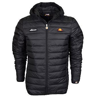 Ellesse Lombardije opgevuld Hooded Zip zwarte jas