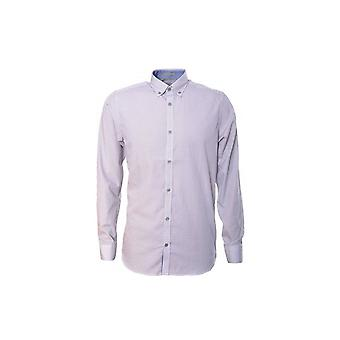 Ted Baker Mens Jerrys Cross Hatch Print Shirt