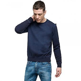 Replay Replay Garemt-Dyed Cotton Mens Sweatshirt M3453.000.21842C