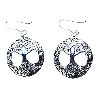 Earring 03 tree of life - silver