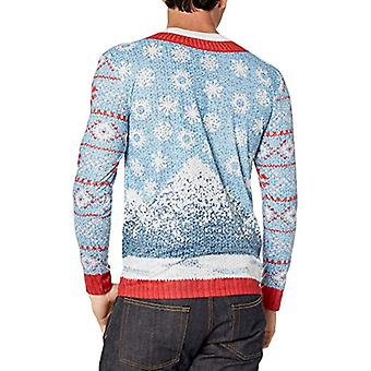 Faux Real Men's 3D Photo-Realistic Ugly Christmas Sweater Long Sleeve T-Shirt...