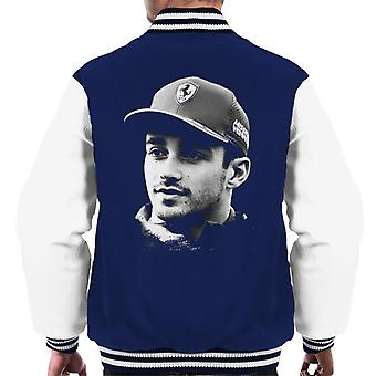 Motorsport Images Charles Leclerc Selfie With Fan Men's Varsity Jacket
