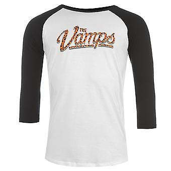 Officiel Mens Vamps Raglan T Shirt Crew Neck T-Shirt Casual Tee Top