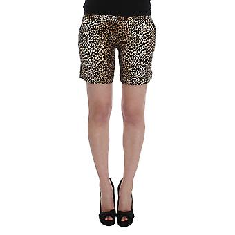 Dolce & Gabbana Leopard Print Cotton Stretch Beachwear Shorts