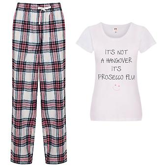 It's Not A Hangover It's Prosecco Flu Tartan Trouser Pyjamas