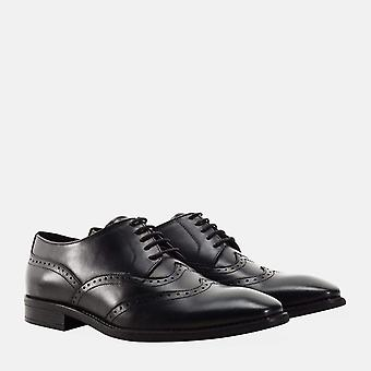 Arthur black leather derby shoe