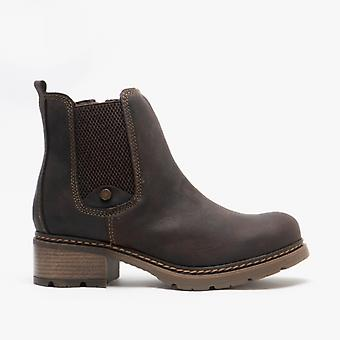 Cipriata Calico Ladies Leather Chelsea Boots Brown