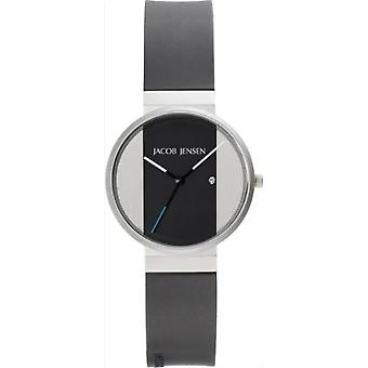 Jacob Jensen Unisex Quartz analogue watch with rubber strap (New Series) Item No. 712