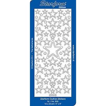 Starform Stickers Christmas Stars 3: Large (10 Sheets) - Gold - 0856.001 - 10X23CM