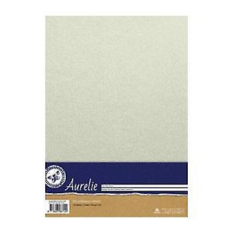 Aurelie Vintage Metallic Cardstock White (AUSP1020)