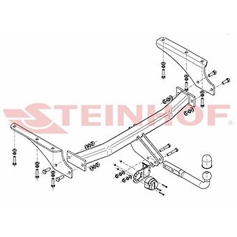 Steinhof Towbar (fixa 2 parafusos) para Jeep CHEROKEE 2001-2008