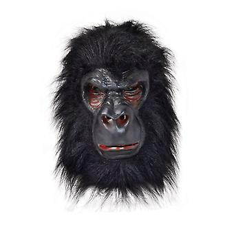 Gorilla Mask Latex With Black Hair
