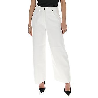 Jacquemus 201de0520141100 Women's White Cotton Pants