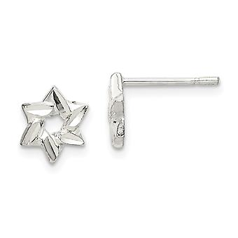 925 Sterling Silver Star Earrings Jewelry Gifts for Women - 1.0 Grams