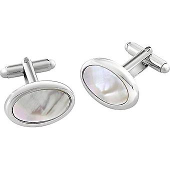Duncan Walton Sirocco Essential Mother of Pearl Cufflinks - White