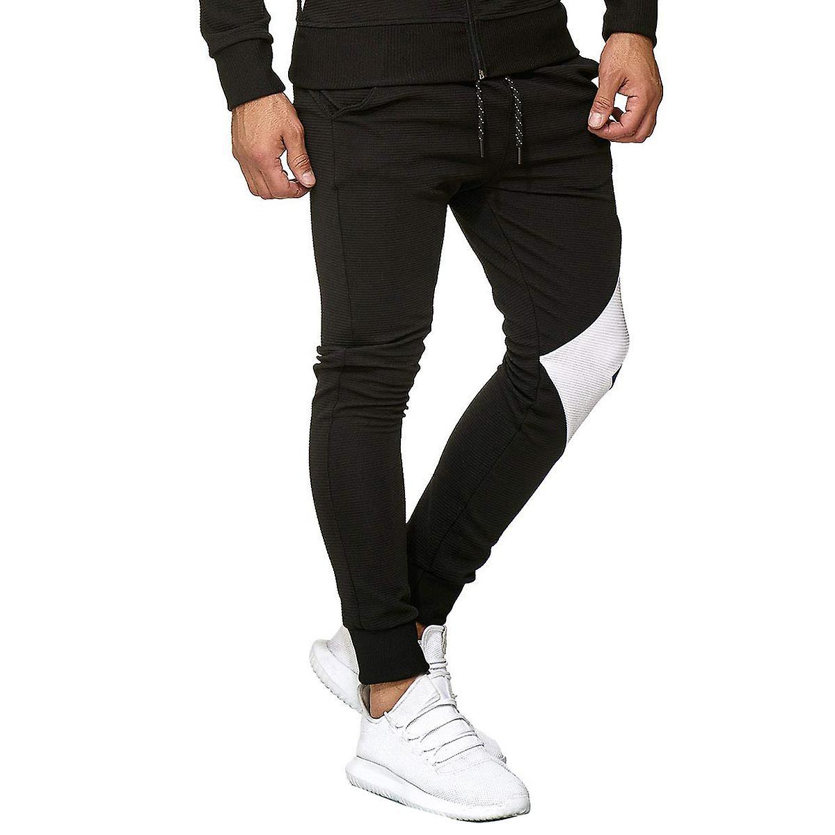 Allthemen Men's Color Slimming Foot Binding Casual Pants