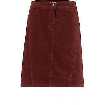 Olsen Hazelnut Fine Cord Skirt