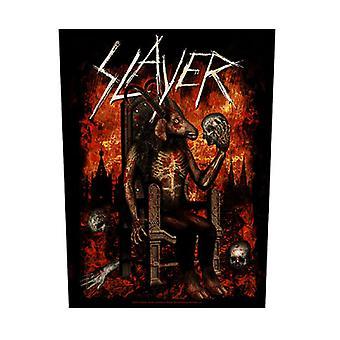 Slayer tillbaka Patch djävulen på tronen Band Logo nya officiella svart 36 x 29 cm