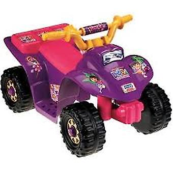 Fisher-Price Power Wheels 10th Anniversary Dora Lil-apos; Quad 6-Volt Battery-Powered Ride-On