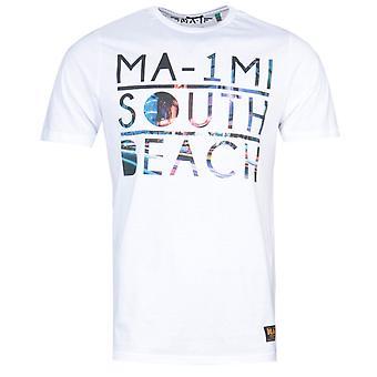 MA-1 South Beach Print White T-Shirt