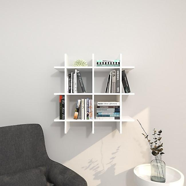 Mensola Farley Color Bianco in Truciolare Melaminico 75x27x75 cm