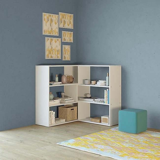 Libreria Twinny Color Bianco in Truciolare Melaminico 158x30x90 cm