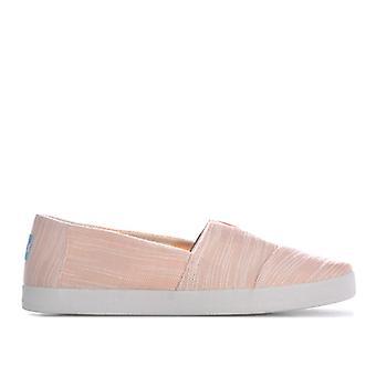 Women's Toms Avalon Slubby Cotton Slip-On Pumps in Pink