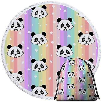Rainbow pandas ranta pyyhe