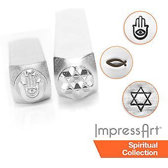 ImpressArt Spiritual Metal Stamping, Metal Stamps, 2.5mm, 6mm Size