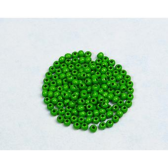 4mm Apple Green Wooden Threading Beads Adults Crafts - 150pk