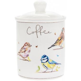 Paese Vita Uccelli Caffè Canister
