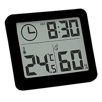 Erittäin ohut digitaalinen automaattinen elektroninen lämpötila ja kosteuskello